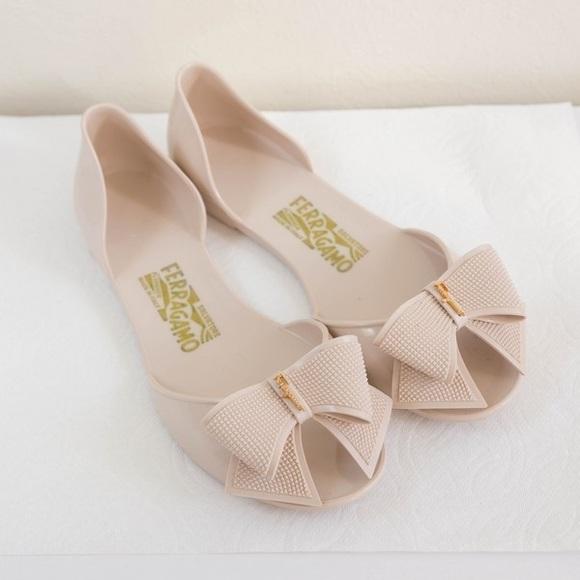 228e3559b95 Salvatore Ferragamo Shoes - Salvatore Ferragamo - Barbados Bow Jelly Flat