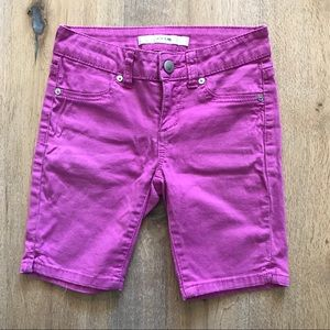 Joe's Jeans Fuchsia Denim Bermuda Shorts