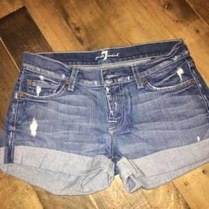 7 for all Mankind rolled denim short