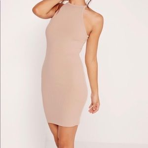CarliBybel x Missguided Light Pink/Nude Dress