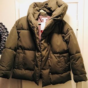 Size 2 H&M army green puffer jacket