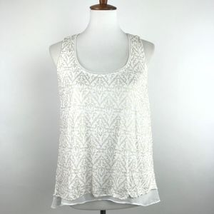 WHBM White Gold Split Swing Tank S #1939