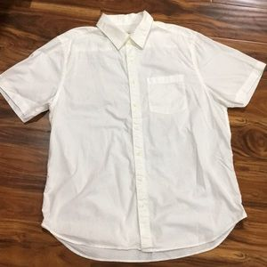 Solid white Old Navy button up