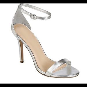 Wild Diva Strappy Sandal Heels Silver 6.5