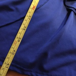 VENUS Dresses - Venus Blue Faux Wrap Dress