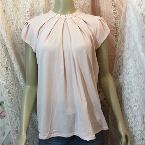 ELLE BABY PINK BLOUSE WITH PEARL EMBELLISHMENTS