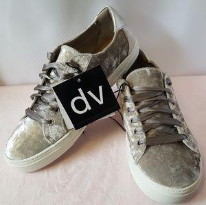 Dolce Vita Women's Velvet Slip On Sneakers Silver