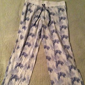Christmas 🎄 PJ Pants! Shades of blue holly design