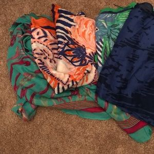Four Stella and dot scarves