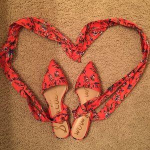 Brandie ankle-wrap flat sandals