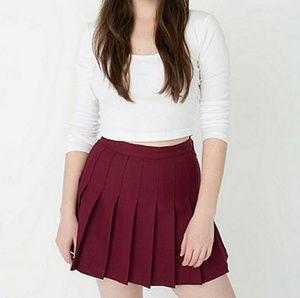 American Apparel Pleated Miniskirt