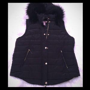H&M Black and Gold Vest Size 16