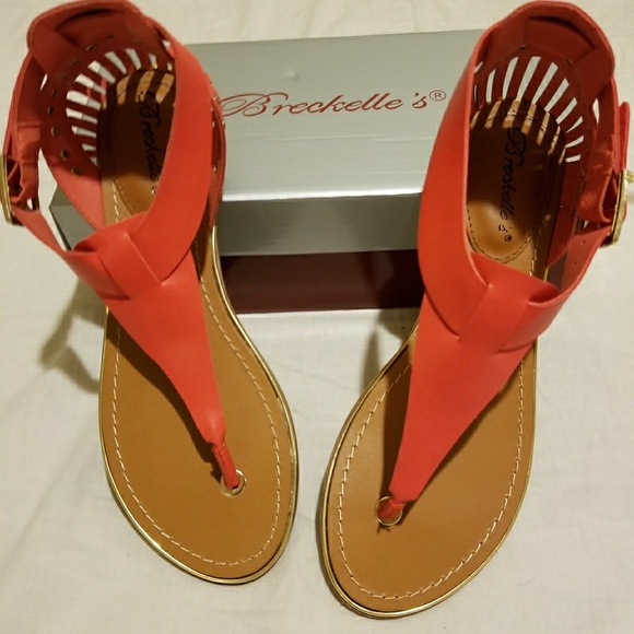 521af6b290b863 Breckelle Grapefruit Color Sandals