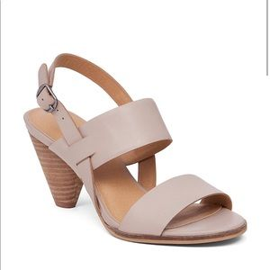 Cream Slingback Leather Sandal