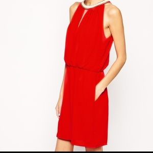 ASOS Greylin Betty Dress with Chain Neck Detail