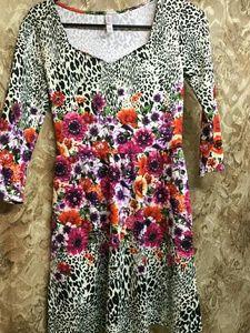 Xbilaration Floral Animal Print Dress
