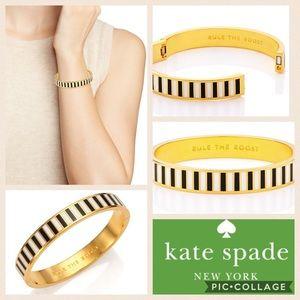 🆕🎁 KATE SPADE Black & White Bangle Bracelet NWT
