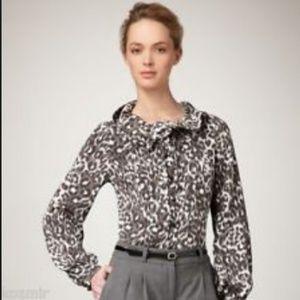 Kate Spade Lynette leopard print blouse