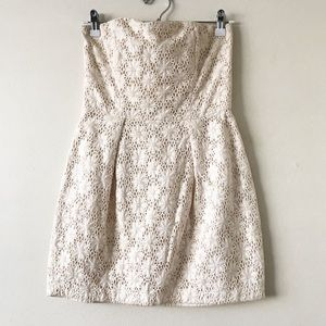 French Connection Lace Strapless Dress