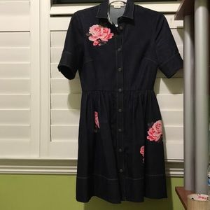 082d43881f kate spade Dresses - Kate Spade Brooke Street Rose Denim Dress (Size 0)