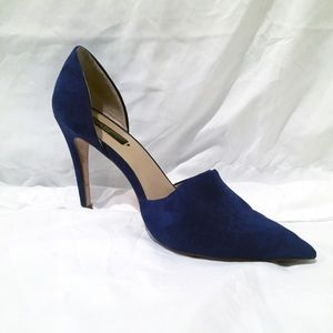 Zara Basic Collection Blue Suede D'Orsay pumps