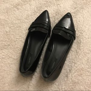 Black Pointed Toe Loafers