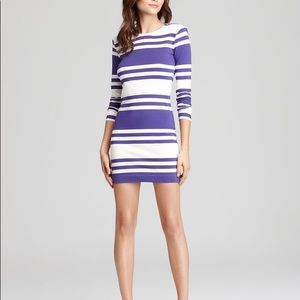 NWT French Connection Purple Stripe Dress