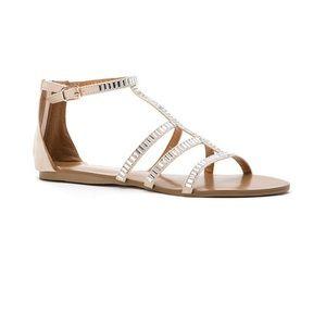 Blush Gladiator Embellished Sandal