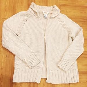 Talbots Chunky Cream Cable Knit Sweater
