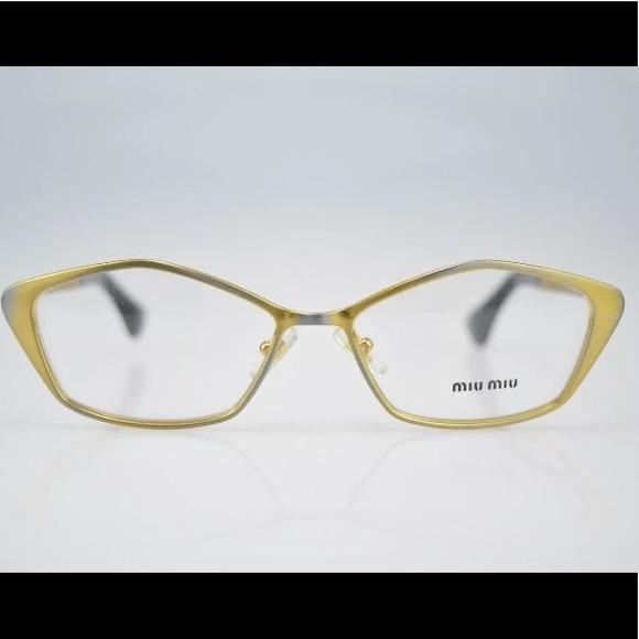 Miu Miu Accessories | New Eyeglass Frames 52mm Unique Gold | Poshmark