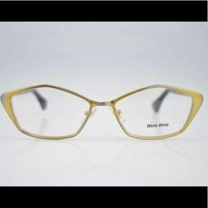 New Miu Miu eyeglass frames. 52mm. Unique gold.