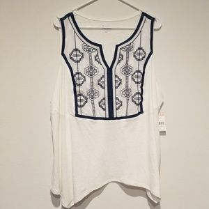 45d4ca515eb28 Simply Emma Tops - Simply Emma Women s Plus Tank Top Embroidered