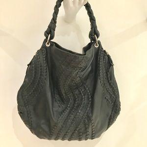 New Aqua Madonna leather Hobo with unique details