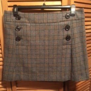 Gap Grey Plaid Mini Skirt