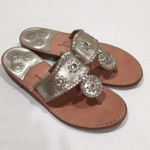Jack Rogers Hamptons Metallic Thong Sandals size 7