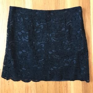 DIANE VON FURSTENBERG DVF Sexy Black Lace Skirt 0