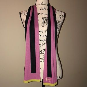 Juicy couture scarf ( pink-black-yellow)