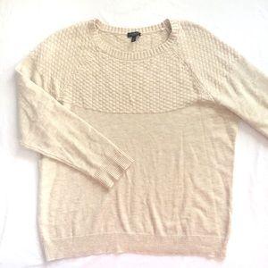 Talbots tan soft knit sweater