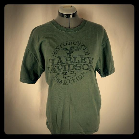 c7bc33f4 Harley-Davidson Shirts | Harley Davidson Mens Tshirt Olive Green ...