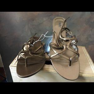 Mossimo Bronze strappy sandals