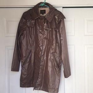 Cole Haan Long Trench Rain Coat