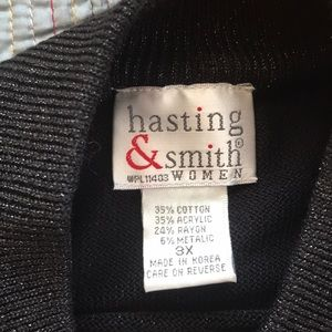 hasting & smith Tops - Black and silver knit top