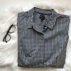 Talbots Plaid Stretch Cotton Shirt