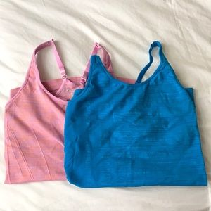 Bundle of Two Workout/Athletic Racer Back Tank Top