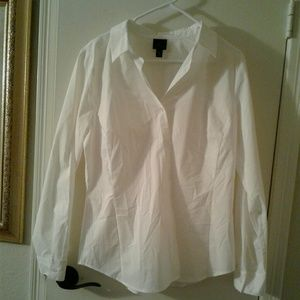 Long sleeve button down blouse.