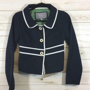 Merona Size 2 Navy and White Blazer