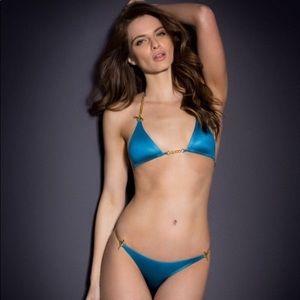 Agent Provocateur Swim - Agent Provocateur Antronella Gold Chain Bikini S df9815b88