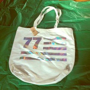 NWT American Eagle 77 White Canvas Bag