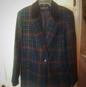 Sag Harbor Women's vintage (80's) Xmas blazer