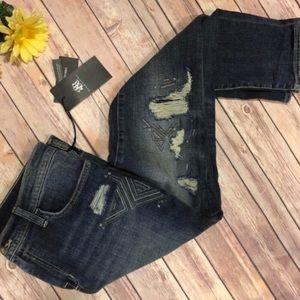 Sz. 12M R&R Distressed Skinny Jeans